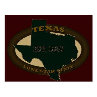 Texas Est 1836 Postcard