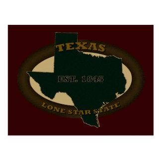 Texas Est. 1845 Postcard