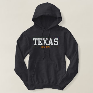 Texas Established in 1836 USA Embroidered Hoodies