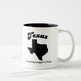 Texas - Everything is bigger Two-Tone Coffee Mug