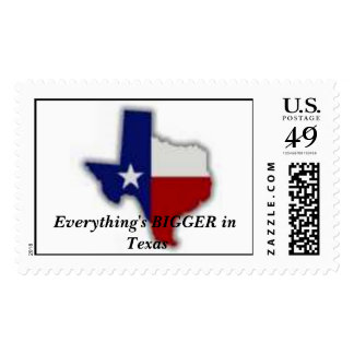 texas, Everything's BIGGER in Texas Postage