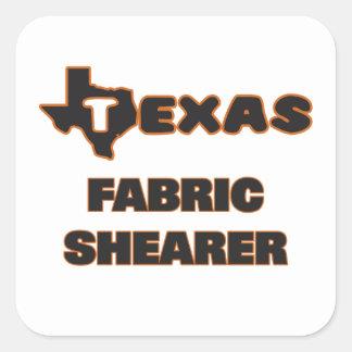 Texas Fabric Shearer Square Sticker