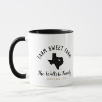 Texas Farm Sweet Farm Family Monogram Mug