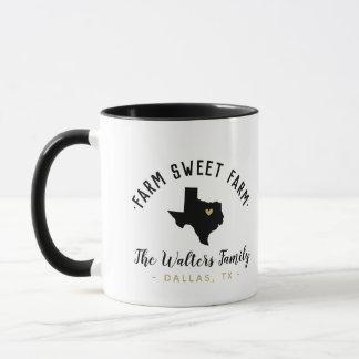 Texas Farm Sweet Farm Family Monogram Mug