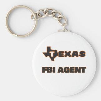Texas Fbi Agent Basic Round Button Keychain