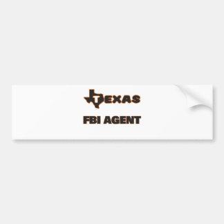 Texas Fbi Agent Car Bumper Sticker
