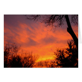 Texas February Sunset Greeting Card