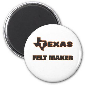 Texas Felt Maker 2 Inch Round Magnet