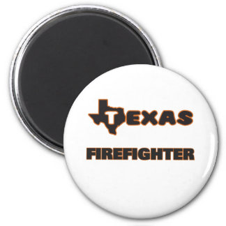Texas Firefighter 2 Inch Round Magnet