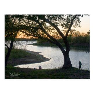 TEXAS fishing Postcard