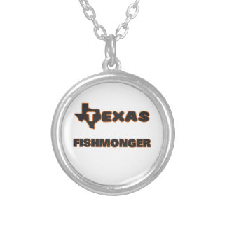 Texas Fishmonger Round Pendant Necklace