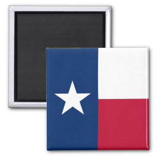 Texas Flag 2 Inch Square Magnet