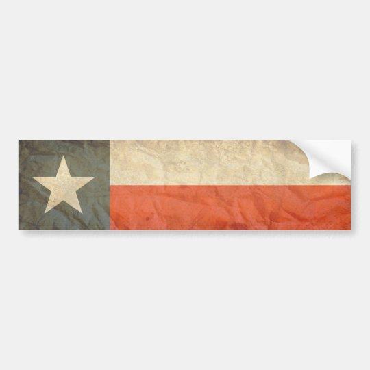 Texas Flag Aged Bumper Sticker