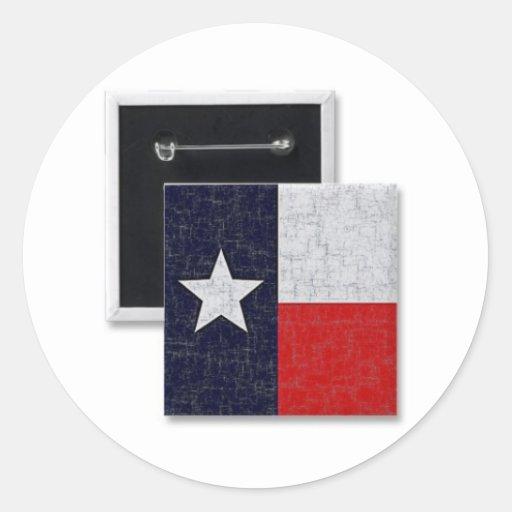 texas_flag_aged_button-p145547919798829181z74rd_38 pegatina redonda