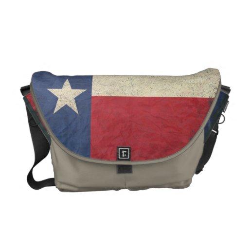 Texas Flag Aged Courier Bag