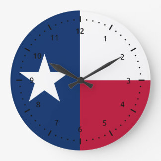 Texas flag, American state flag Large Clock