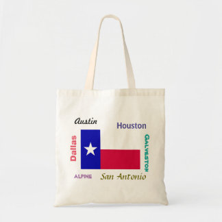 Texas Flag and Cities Tote