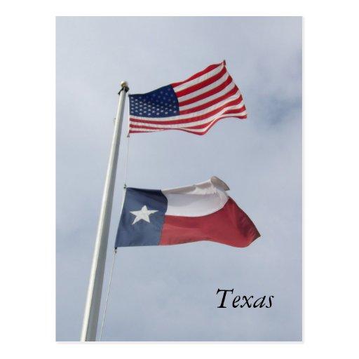Post (TX) United States  city photos : Texas Flag and United States Flag Post Card   Zazzle