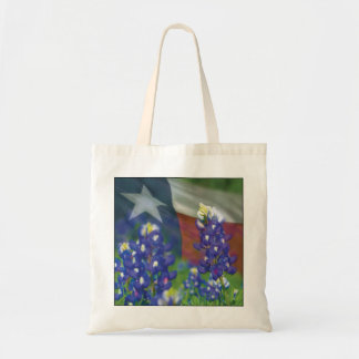 Texas flag bluebonnets bag