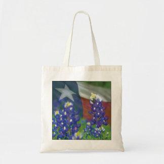 Texas flag bluebonnets bag