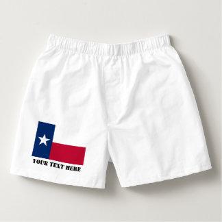 Texas flag boxer shorts and Texan pride briefs