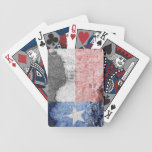 texas flag brick wall bicycle playing cards