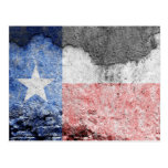 texas flag brick wall postcard