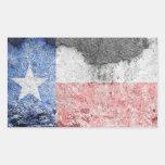texas flag brick wall rectangular sticker