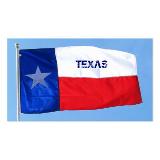 Texas Flag Business Card Star