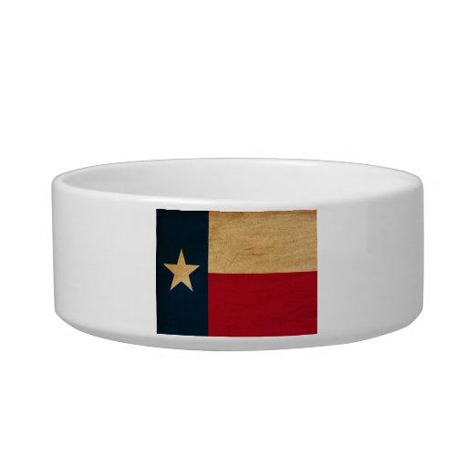 Texas Flag Cat Food Bowls