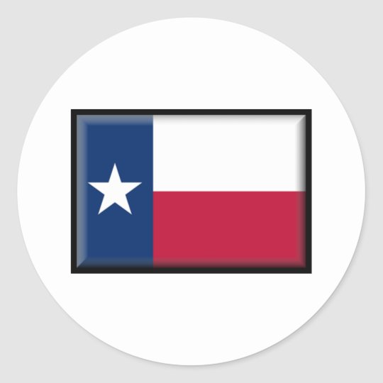 Texas Flag Classic Round Sticker