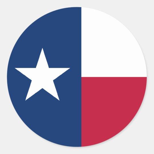 Texas Flag Classic Round Sticker