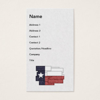 TEXAS FLAG COLLAGE BUSINESS CARD