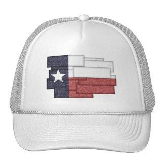 TEXAS FLAG COLLAGE HATS