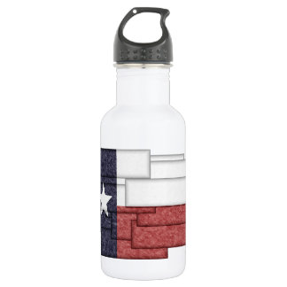 TEXAS FLAG COLLAGE 18OZ WATER BOTTLE
