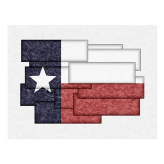 TEXAS FLAG COLLAGE POST CARDS
