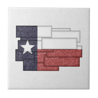 TEXAS FLAG COLLAGE SMALL SQUARE TILE