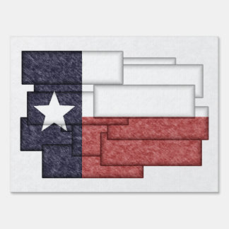 TEXAS FLAG COLLAGE YARD SIGN