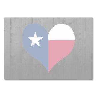 Texas flag colored card