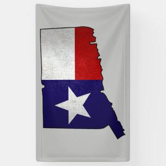 Texas flag Connecticut outline banner