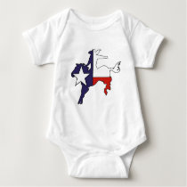 Texas flag cowboy outline baby outfit baby bodysuit