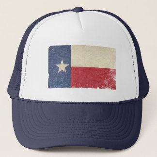 Texas Flag, Distressed Trucker Hat