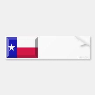 Texas Flag Gem Car Bumper Sticker