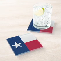 Texas Flag Glass Coaster