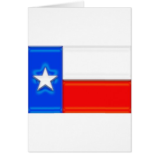 Texas Flag Glossy Card