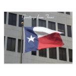 texas flag greetings post cards