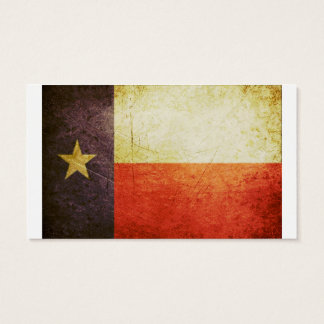 Texas Flag Grunge effect Business Card