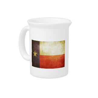 Texas Flag Grunge effect Drink Pitchers