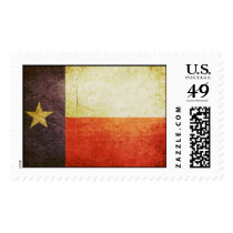 Texas Flag Grunge effect Postage