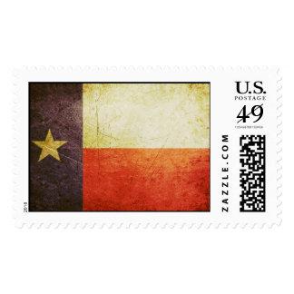 Texas Flag Grunge effect Stamp